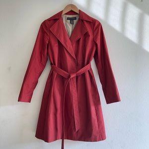 Banana Republic red trench coat